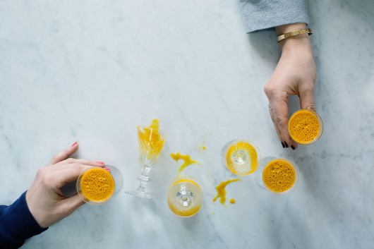 Turmeric shot/drink from the book Food Pharmacy with photography by Food photographer Ulrika Ekblom.