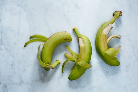 Green bananas from the cookbook Food Pharmacy with photography by Ulrika Ekblom.